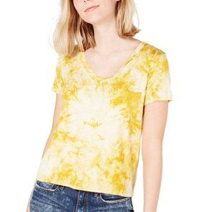 Macys Self Esteem Medium Gold V-Neck yellow shirt